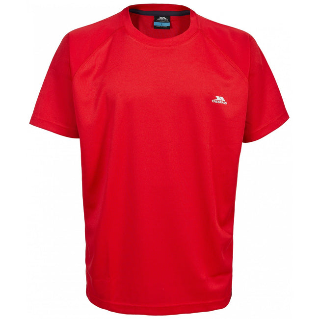 Red - Front - Trespass Mens Debase Short Sleeve Active T-Shirt