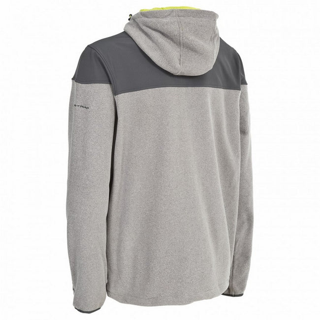 Smoke - Close up - Trespass Mens Morsley Airtrap Long Sleeve Fleece