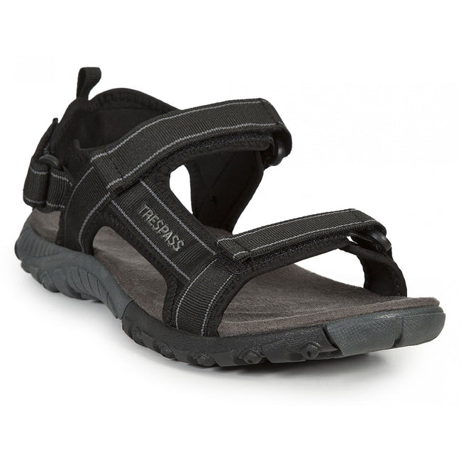 Black - Front - Trespass Mens Alderley Active Sandals