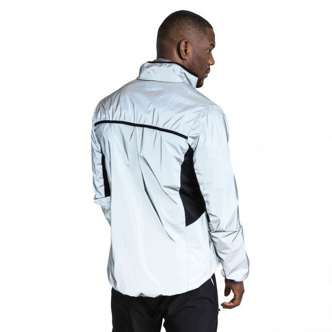 Silver Reflective - Side - Trespass Mens Zig Reflective Active Jacket
