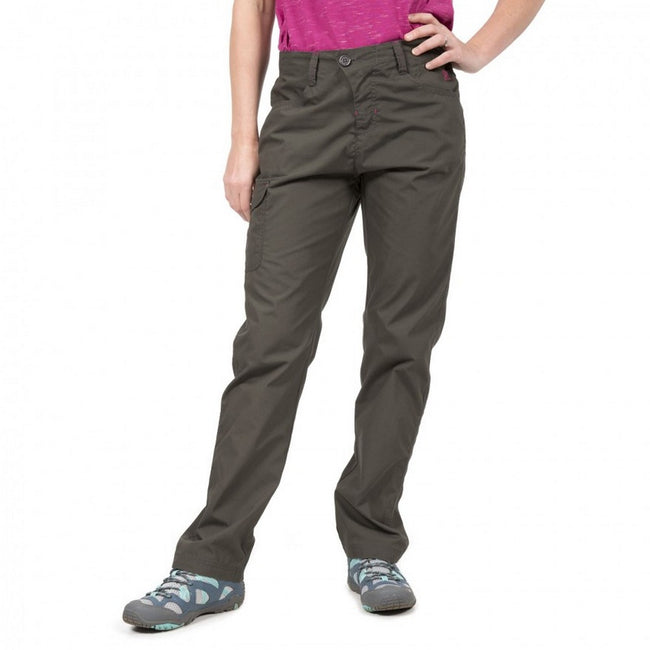 Carbon - Front - Trespass Womens-Ladies Rambler Water Repellent Outdoor Trousers