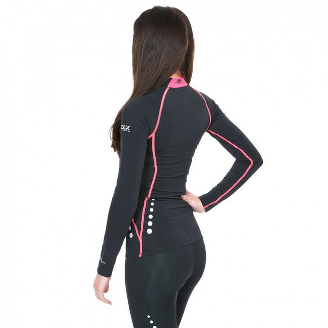 Black - Side - Trespass Womens-Ladies Dasha Long Sleeve Compression Top