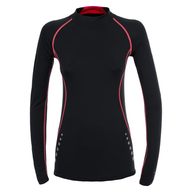 Black - Front - Trespass Womens-Ladies Dasha Long Sleeve Compression Top