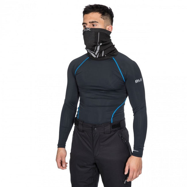 Black - Back - Trespass Mens Brawn Base Layer Compression Top