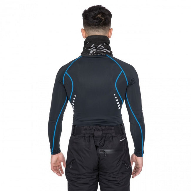 Black - Side - Trespass Mens Brawn Base Layer Compression Top
