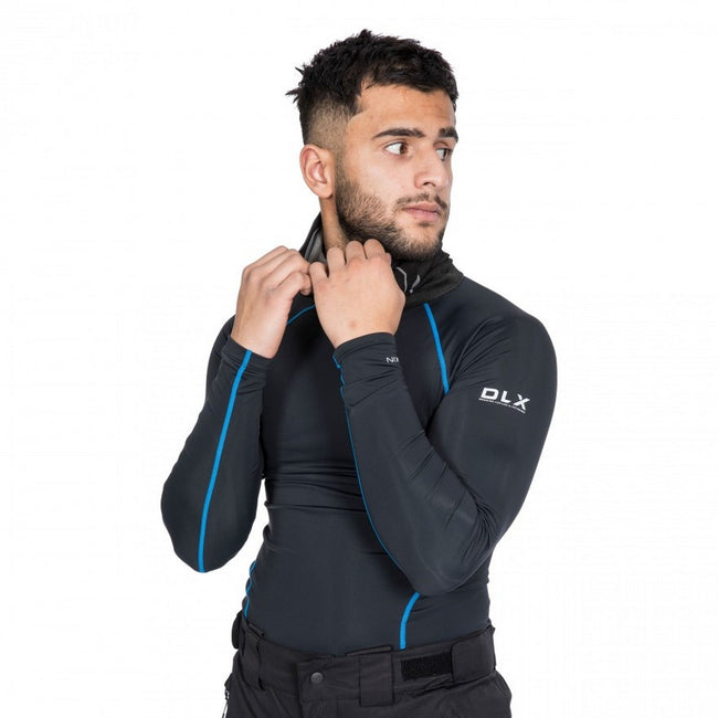 Black - Pack Shot - Trespass Mens Brawn Base Layer Compression Top