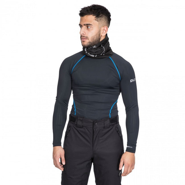 Black - Close up - Trespass Mens Brawn Base Layer Compression Top