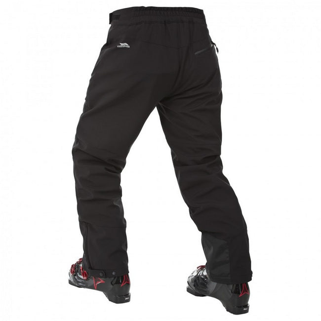 Black - Back - Trespass Mens Westend Stretch Waterproof Ski Trousers