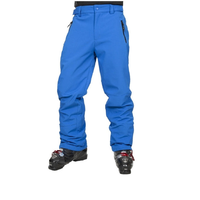 Blue - Front - Trespass Mens Westend Stretch Waterproof Ski Trousers