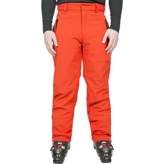 Navy - Front - Trespass Mens Westend Stretch Waterproof Ski Trousers