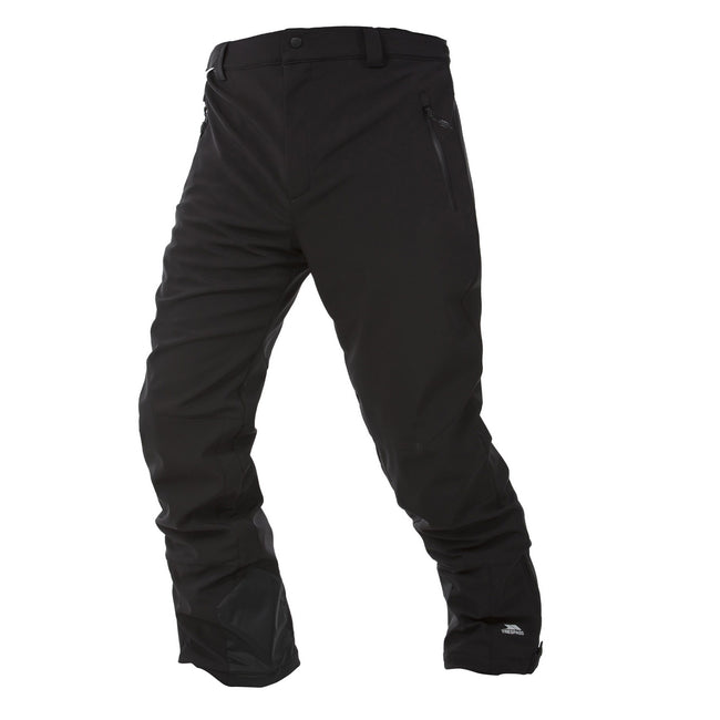 Black - Front - Trespass Mens Westend Stretch Waterproof Ski Trousers
