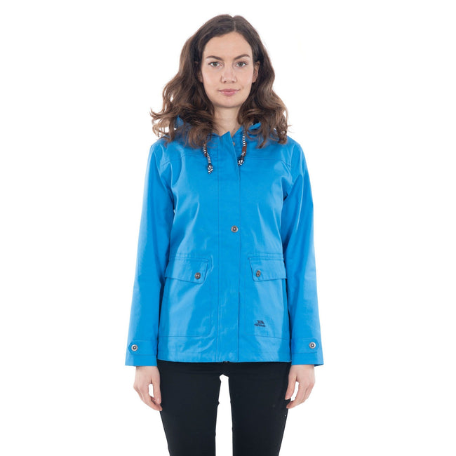 Vibrant Blue - Side - Trespass Womens-Ladies Seawater Waterproof Jacket