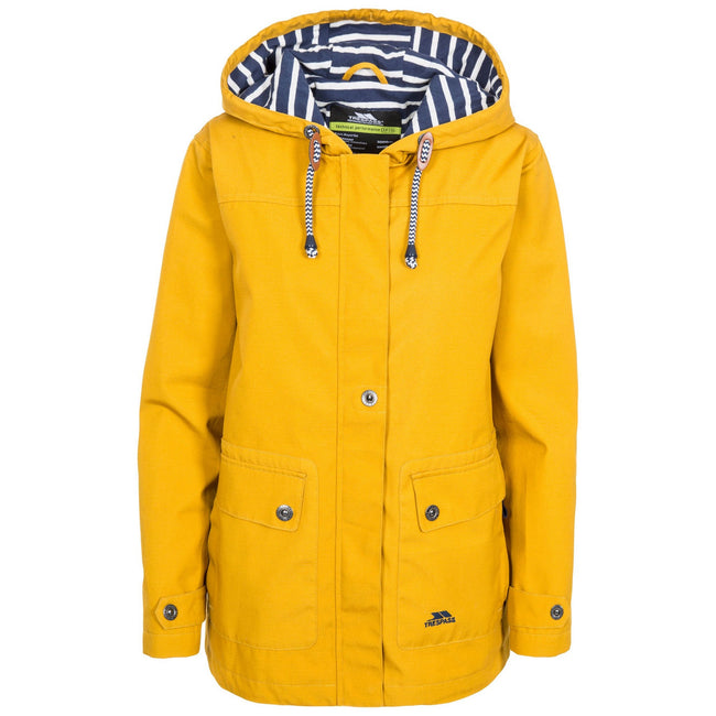 Maize Yellow - Back - Trespass Womens-Ladies Seawater Waterproof Jacket