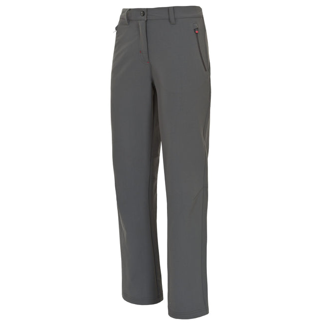 Carbon - Front - Trespass Womens-Ladies Swerve Outdoor Trousers