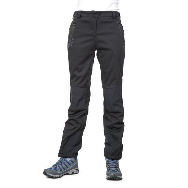 Carbon - Front - Trespass Womens-Ladies Sola Softshell Outdoor Trousers