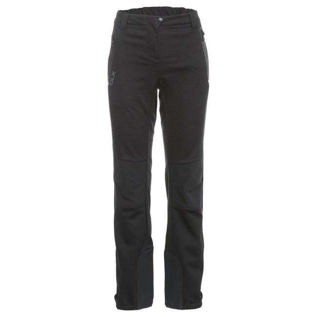 Black - Front - Trespass Womens-Ladies Sola Softshell Outdoor Trousers