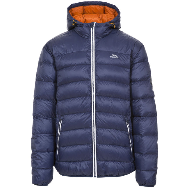 Navy - Front - Trespass Mens Whitman Packaway Down Jacket