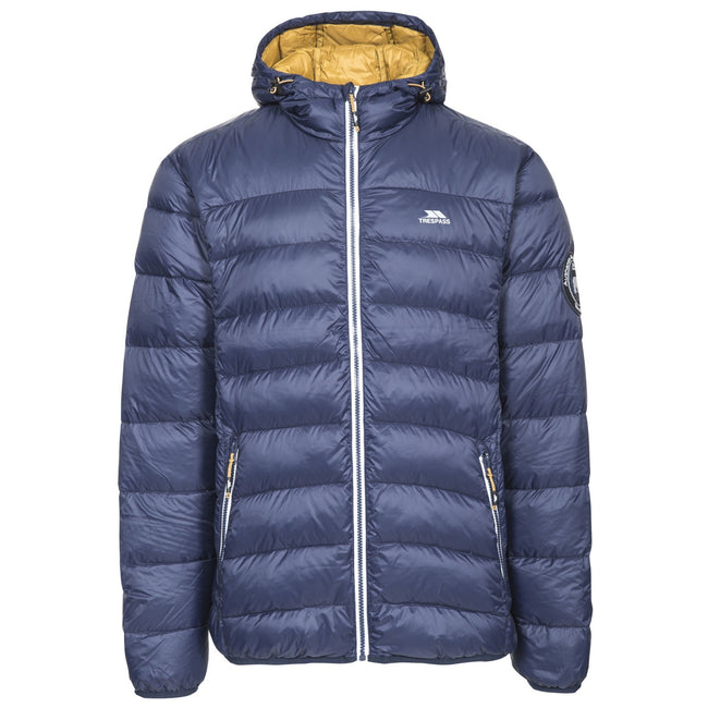 Navy-Golden Brown - Front - Trespass Mens Whitman Packaway Down Jacket