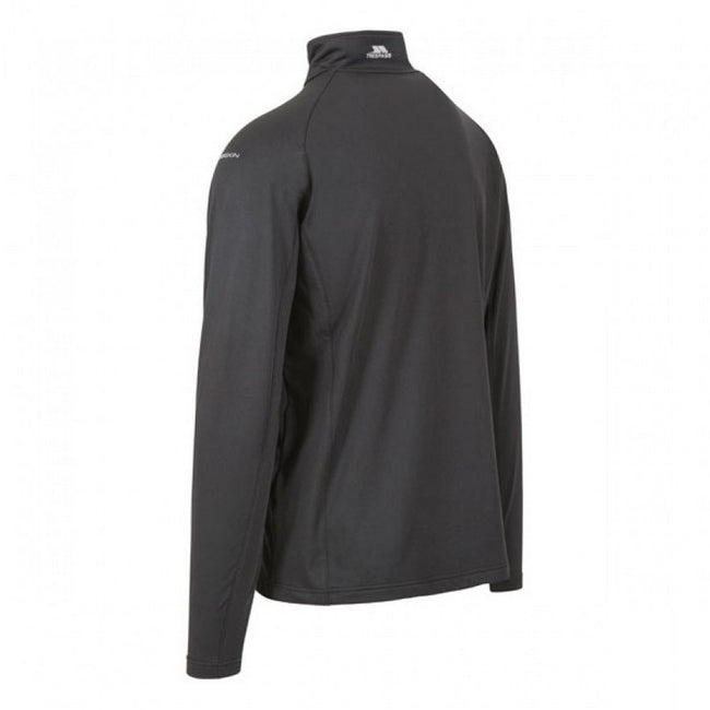 Black - Back - Trespass Mens Ferris Full Zip Active Top