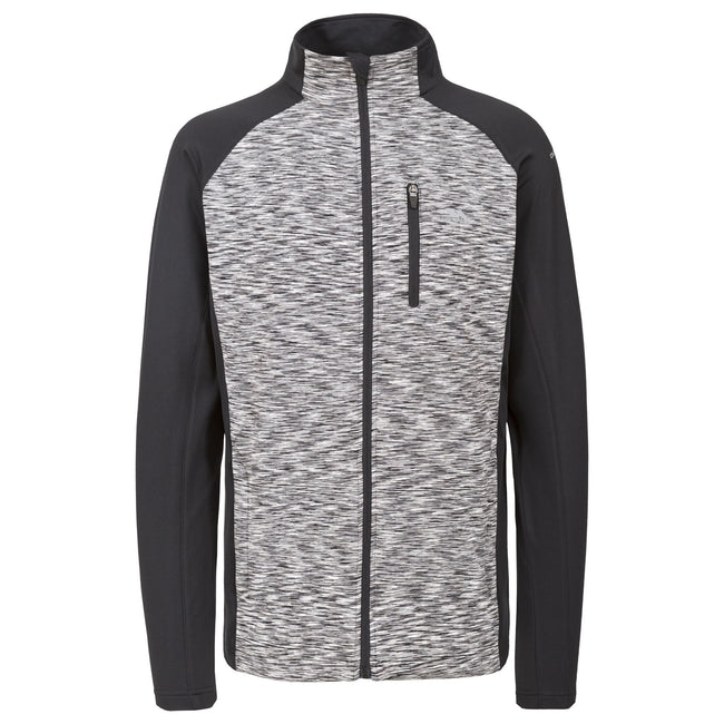 Black - Front - Trespass Mens Ferris Full Zip Active Top