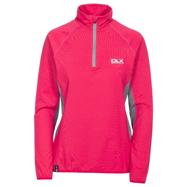 Raspberry - Front - Trespass Womens-Ladies Frey Long Sleeve DLX Active Top