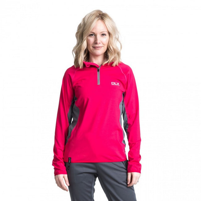 Raspberry - Side - Trespass Womens-Ladies Frey Long Sleeve DLX Active Top