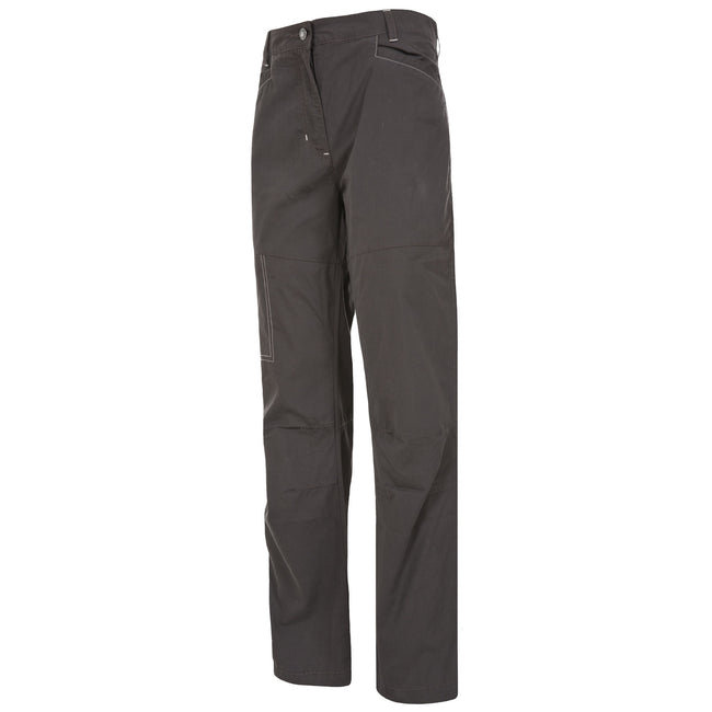 BLACK - Front - Trespass Womens-Ladies Terra Walking Trousers