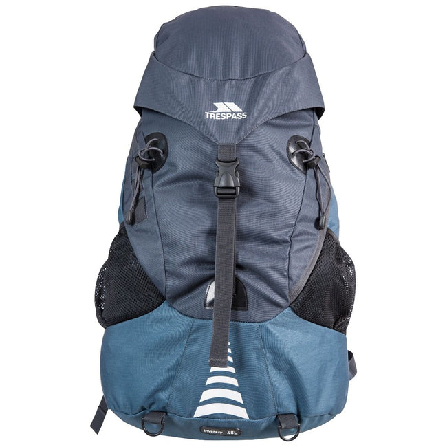 Navy - Front - Trespass Inverary Rucksack-Backpack (45 Litres)