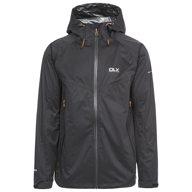 Black - Front - Trespass Mens Edmont II DLX Waterproof Jacket