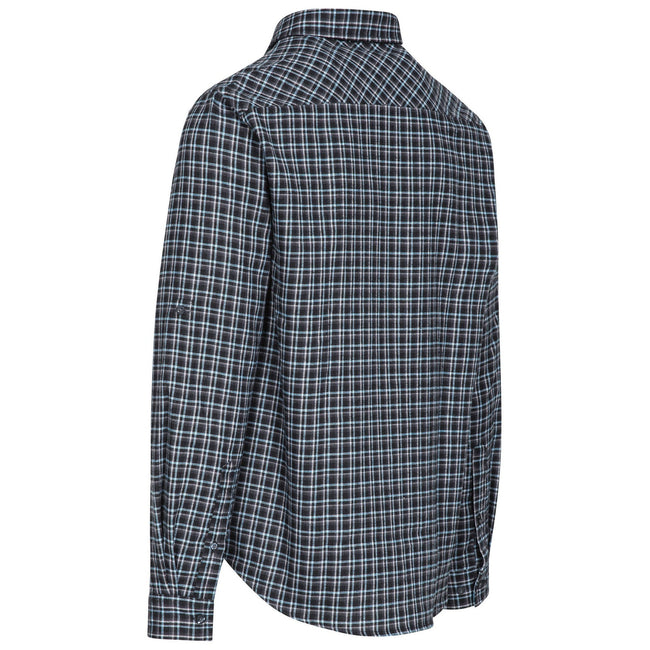 Green Check - Front - Trespass Mens Snyper Check Shirt