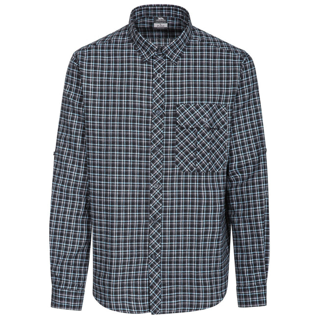 Blue Check - Front - Trespass Mens Snyper Check Shirt