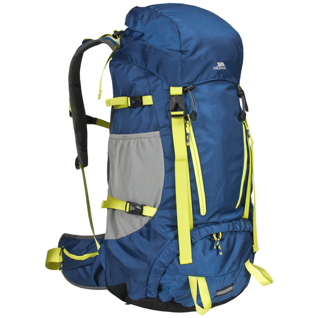 Sapphire - Front - Trespass Iggy Waterproof Hiking Backpack-Rucksack (45 Litres)