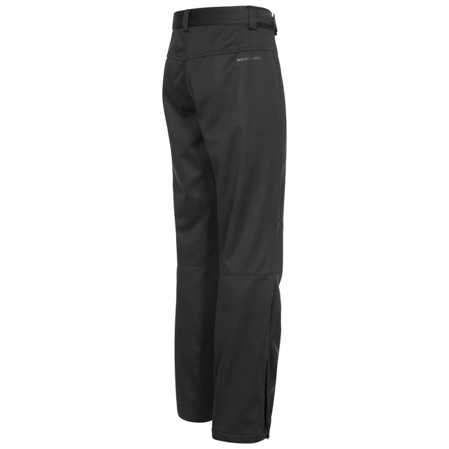 Black - Back - Trespass Mens Holloway Waterproof DLX Trousers