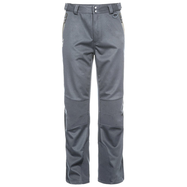 Carbon - Front - Trespass Mens Holloway Waterproof DLX Trousers
