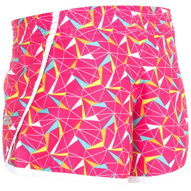 Pink Lady Print - Back - Trespass Childrens Girls Serve Shorts