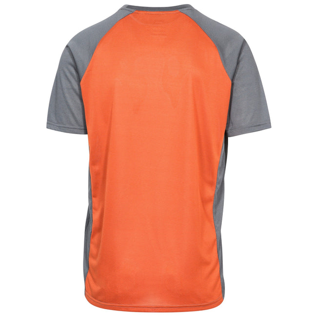 Burnt Orange Carbon - Back - Trespass Mens Talca Active T-Shirt