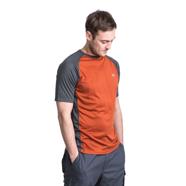 Burnt Orange Carbon - Side - Trespass Mens Talca Active T-Shirt