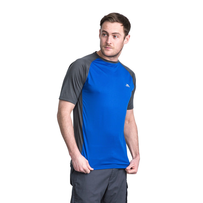Blue Carbon - Side - Trespass Mens Talca Active T-Shirt