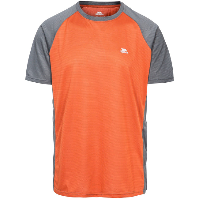 Burnt Orange Carbon - Front - Trespass Mens Talca Active T-Shirt