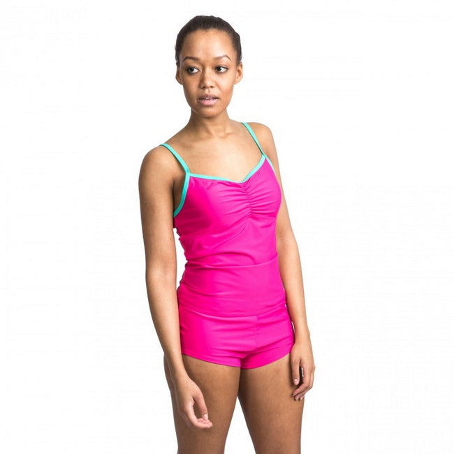 Pink Lady - Back - Trespass Womens-Ladies Darcie Tankini Top