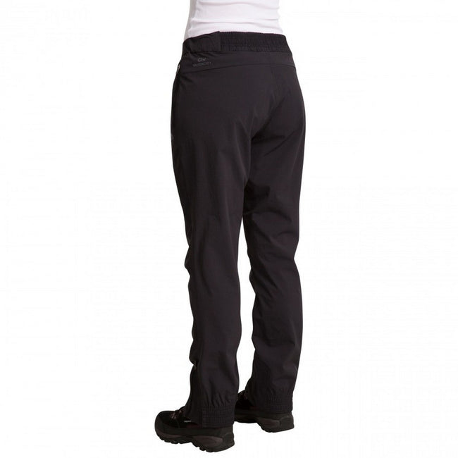 Black - Back - Trespass Womens-Ladies Stormlight Hiking Trousers