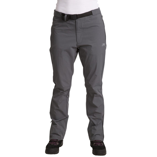 Black - Side - Trespass Womens-Ladies Stormlight Hiking Trousers