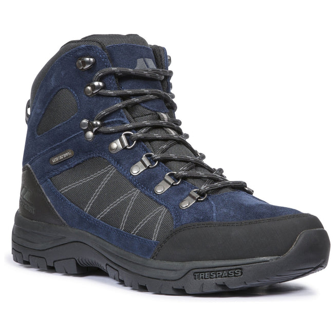 Navy Blue - Front - Trespass Mens Chavez Mid Cut Hiking Boots