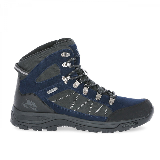 Navy Blue - Back - Trespass Mens Chavez Mid Cut Hiking Boots