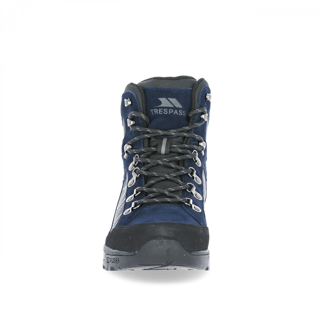 Navy Blue - Side - Trespass Mens Chavez Mid Cut Hiking Boots