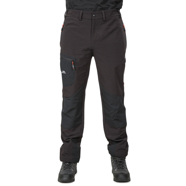 Black - Back - Trespass Mens Passcode Hiking Trousers