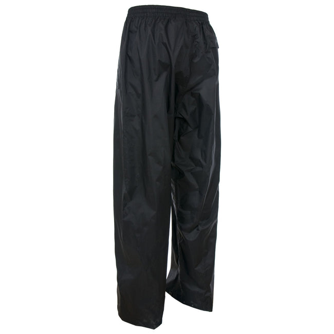 Dark Navy - Front - Trespass Adults Unisex Qikpac Overtrousers-Bottoms
