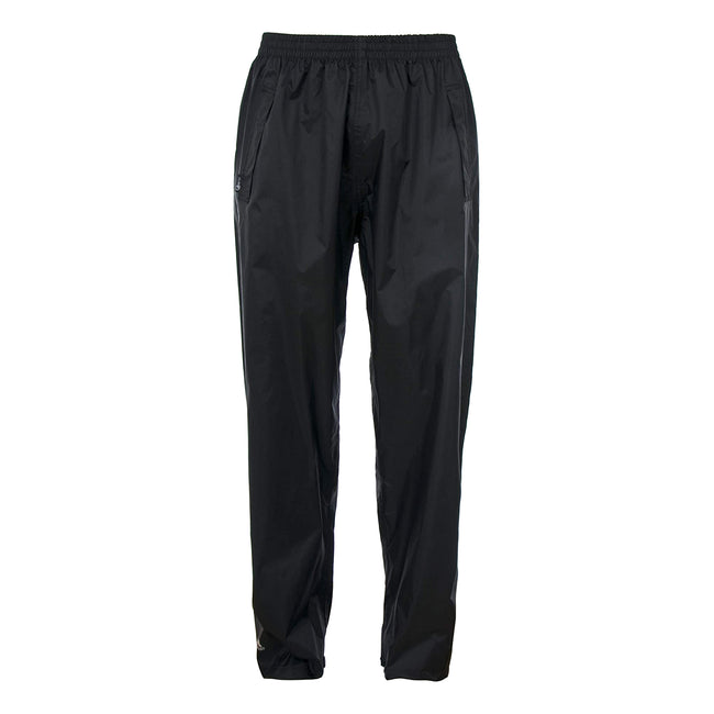 Black - Front - Trespass Adults Unisex Qikpac Overtrousers-Bottoms