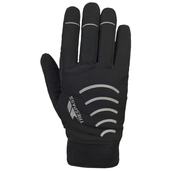 Black - Front - Trespass Adults Unisex Crossover Gloves (1 Pair)