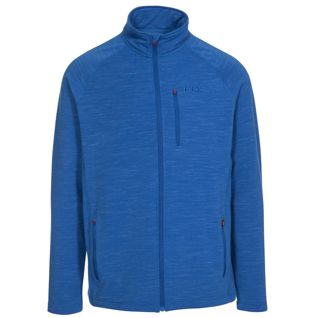Blue Marl - Front - Trespass Mens Brolin DLX Fleece Jacket